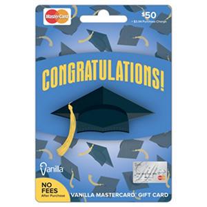 MasterCard Graduation Gift Card - $50