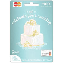 Vanilla MasterCard Wedding Gift Card - $100