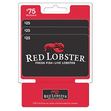 Red Lobster $75MP - 3 x $25