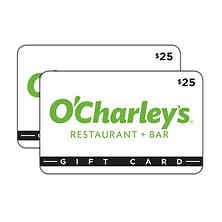 O'Charley's $50 Multi-Pack -  2/$25 Gift Cards for $39.98