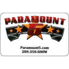 Paramount 5 Teton Vu Drive In $50 Gift Card, 2/$25