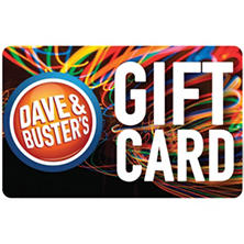 Dave & Buster's $50 Plus $10 Game Play Certificate