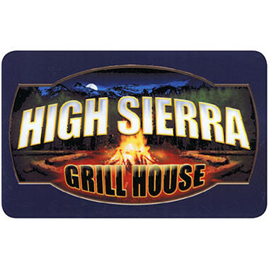 High Sierra Grill House $100 Multi-Pack 2/$50  for $79.98