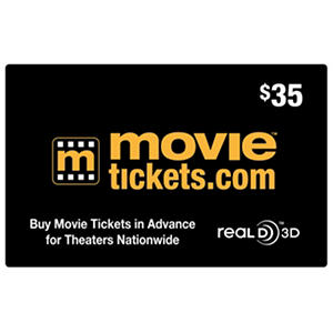 Movietickets.com $35 Gift Card for $27.98