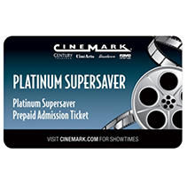 Cinemark - California Only - 2 tickets for $17.98