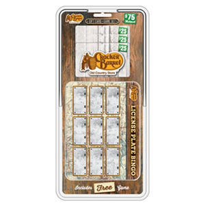 Cracker Barrel License Plate Bingo $75MP - 3 x $25