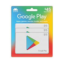 Google Play $45 Value Gift Cards - 3 x $15