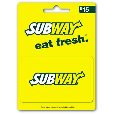 Subway Gift Card - $15