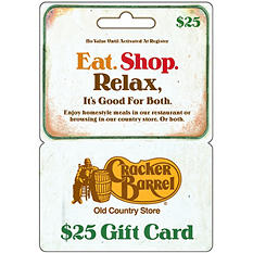Cracker Barrel Gift Card - $25
