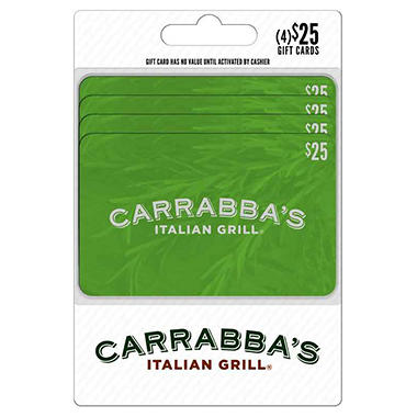 Carrabba's Gift Card - $25