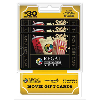 Regal $30 Multi-Pack - 3/$10 Gift Cards