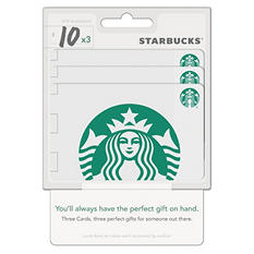 Starbucks $30 Multi-Pack - 3/$10 Gift Cards