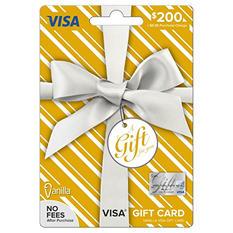 Vanilla Visa Metallic Silver Bow Gift Card - $200
