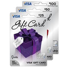 Vanilla Visa Gift Card - Various Amounts