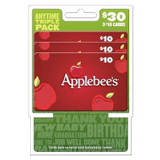 Applebee's $30 Multi-Pack - 3/$10 Gift Cards