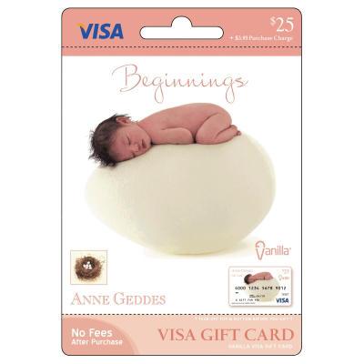 Anne Geddes Vanilla Visa Gift Card - $25