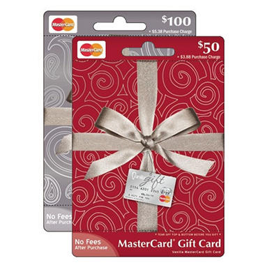 MasterCard Gift Card - Various Amounts