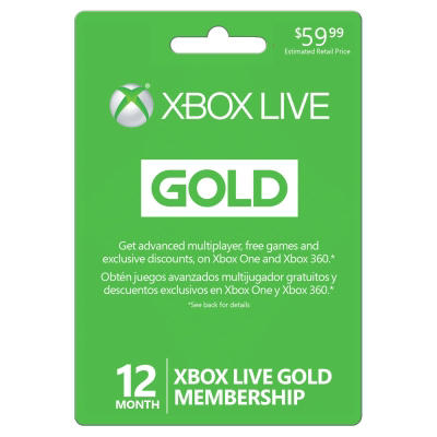 Xbox 360 Live 12-Month Gold Card