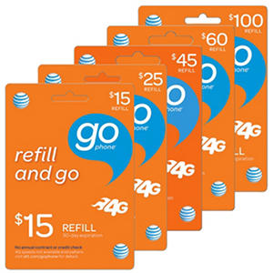 AT&T Refill eGift Card - Various Amounts (Email Delivery)