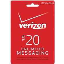 Verizon Wireless $20 UNLIMITED Messaging eGift Card - (Email Delivery)