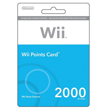 Nintendo Points Card Wii - 2000 points