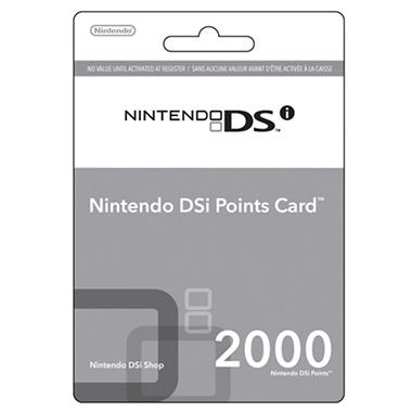 Nintendo Points Card DSi - 2000 points