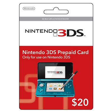 Nintendo 3DS Prepaid Card - $20