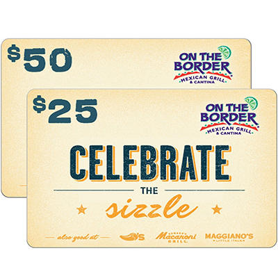 On The Border eGift Card - Various Amounts (Email Delivery)