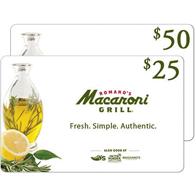 Macaroni Grill eGift Card - Various Amounts (Email Delivery)