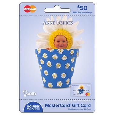 Anne Geddes Vanilla Mastercard Gift Card - $50