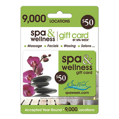 Spa & Wellness Gift Card by Spa Week - $50