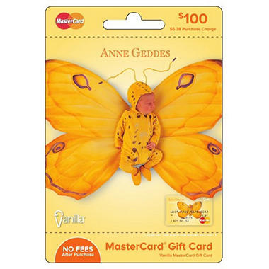Anne Geddes Vanilla Mastercard Gift Card - $100