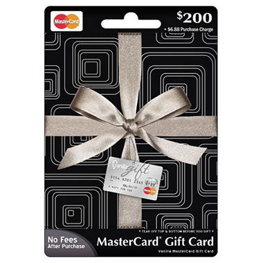 MasterCard Gift Card - $200