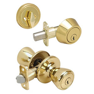 Hardware House Pelham Lockset/Deadbolt Combo - Polished Brass