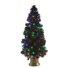 4 ft Fiber Optic and LED Multi-Function Tree