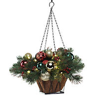 "DF Design Collection 24"" Pre-Lit LED Classic Christmas Basket - Battery Operated"