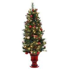 5 ft Pre-Lit Christmas Classic Potted Tree