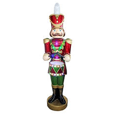 5 ft Jeweled Nutcracker with Lights and Music