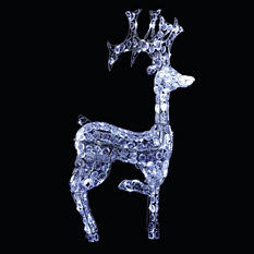 LED Crystal Reindeer with Controller