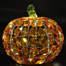 "10"" Crystal Pumpkin with 40 LED Lights and Controller"