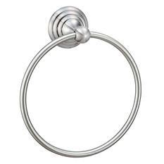 Hardware House Stockton Satin Nickel Towel Ring