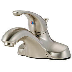 Hardware House Single Handle Bathroom Faucet w/ Satin Nickel Finish