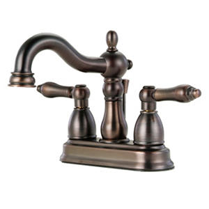 Hardware House 2 Handle Bathroom Faucet w/ Classic Bronze Finish