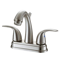 Hardware House 2 Handle Bathroom Faucet w/ Brushed Nickel Finish