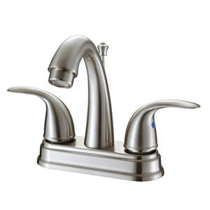 Hardware House 2 Handle Bathroom Faucet - Brushed Nickel