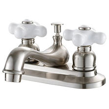 Hardware House 2 Handle Bathroom Faucet w/ Satin Nickel Finish