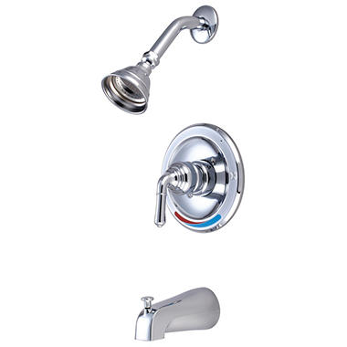 Hardware House Single Handle Tub/Shower Faucet w/ Chrome Finish