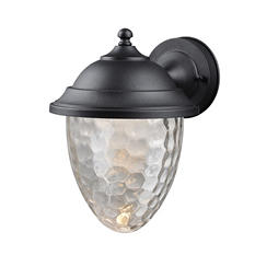 Hardware House Small LED Lantern with Clear Bubble Glass (Textured Black)