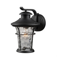 Hardware House Wall-Mounted Lantern with Dusk-to-Dawn Light Control (Textured Black)