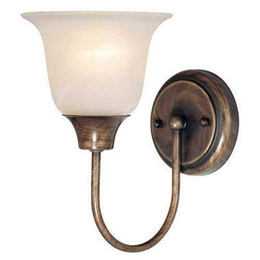 Granada antique copper 1 light bath wall fixture sam 39 s club for Copper bathroom light fixtures